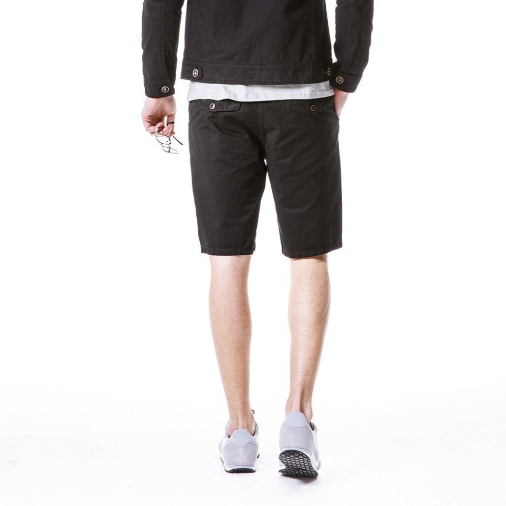PASATO New Mens Casual Pocket Beach Work Casual Short Trouser Shorts Classic Gargo Pants
