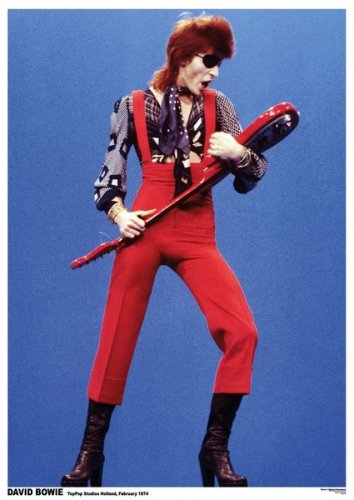 Costume Bowie David Lazarus (David Bowie - Music / Personality Poster (Top Pop Studios Holland 1974 - Red Jumper) (Size: 24