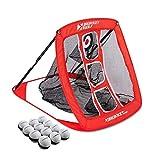 Rukket Pop Up Golf Chipping Net   Outdoor / Indoor Golfing Target Accessories and Backyard Practice Swing Game   Includes 12 Foam Practice Balls