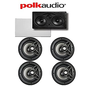 Yamaha RX-V781BL 7.2-Channel 4K A/V Receiver + Polk Audio V80 5.0 In-Wall / In-Ceiling Home Theater Speaker System from Polk Audio