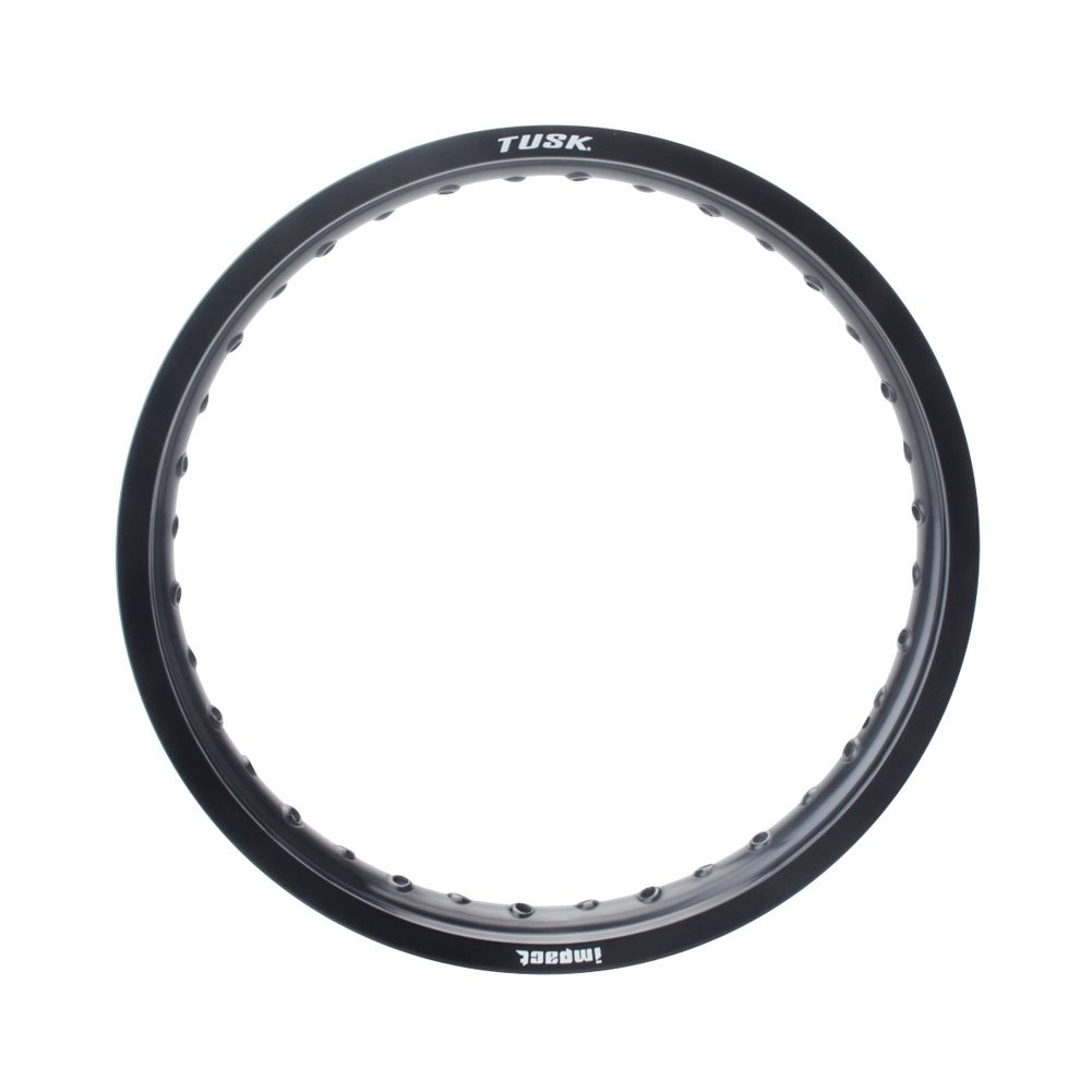 Tusk Impact Rim - Rear 36 Spoke Hole, 18 x 2.15 Black - Fits: Husqvarna FC 250 2014-2018