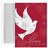Best JAM Paper Friends Christmas - JAM Paper Christmas Card Set - Snowflake Peace Review
