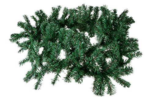 Clever Creations Christmas Tree Branch Style Garland | Realistic Pine Tree Branch Christmas Decor Theme | Measures 8.5' Long