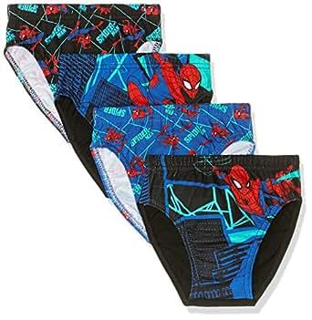 Rio Spider-Man Boys Underwear Brief (4 Pack), Spider-Man, 2-3 Years