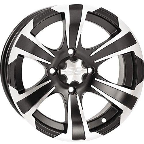 ITP SS312 Wheel - 14x8 - 5+3 Offset - 4/110 - Matte Black/Machined , Bolt Pattern: 4/110, Rim Offset: 5+3, Wheel Rim Size: 14x8, Color: Black, Position: Rear 1428447536B