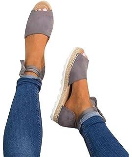 Mujer Sandalias Alpargatas Planas Verano, Plataforma Bohemias Playa Mares Romanas Cuña Gladiador Tacon Zapatos Zapatillas