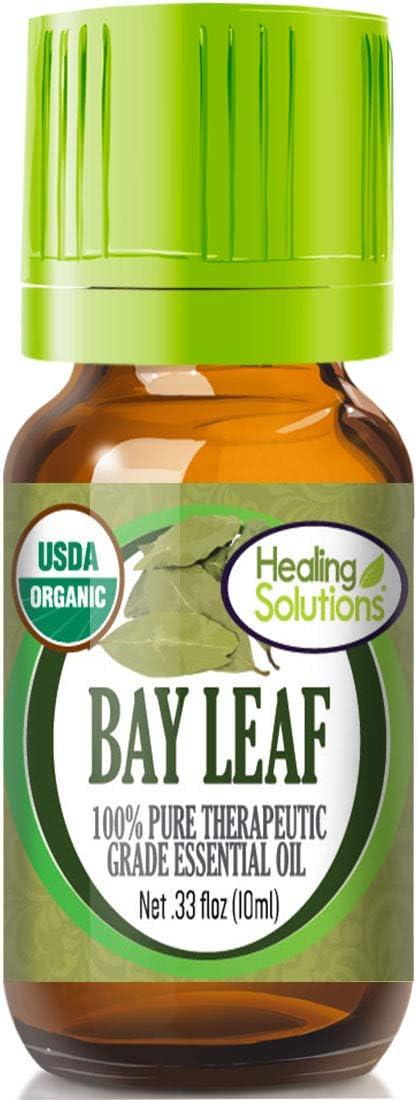 Organic Bay Essential Oil (100% Pure - USDA Certified Organic) Best Therapeutic Grade Essential Oil - 10ml