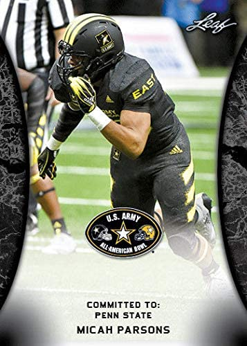 Army HIGH School All-American Rookie Card Penn ST! Leaf Micah Parsons 20181ST Ever Printed U.S