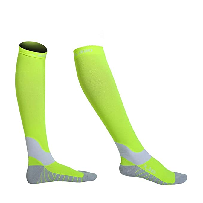 Amazon.com : En-teiping Fluorescence Night Running Socks Men New Marathon Athletics Cycling Sports Long Compression Sock : Sports & Outdoors