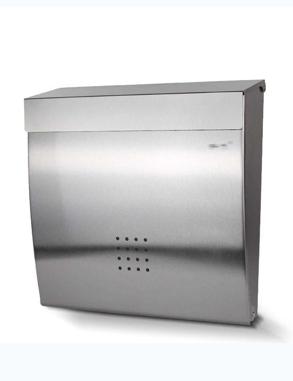 XINGZHE ステンレススチールのレターボックスシンプルな創造的な防雨性のメールボックスヴィラの屋外壁掛けロックメールボックス メールボックス   B07QB54FXD