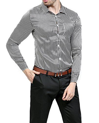 Button Down Striped Dress Shirt - 9