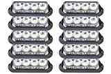 ultra tow light bar - Government Approved Emergency Vehicle Lights by ETD – Ultra Bright Surface & Grille White Amber LED Caution Light Bar, Strobe Warning Lights for Trucks Firefighters Construction Snow Plows Security