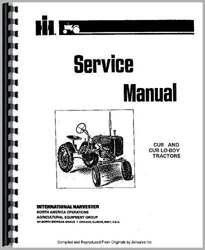 Download Farmall Cub Tractor Service Manual PDF