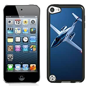 NEW Unique Custom Designed iPod Touch 5 Phone Case With Private Jet Plane Blue_Black Phone Case