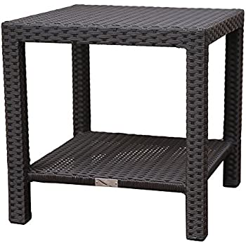 Amazoncom Oakland Living Resin Wicker End Table 21Inches