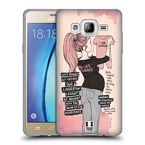 Head Case Designs Pro Life Feminism Soft Gel Case for Samsung Galaxy On5