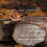 Antimicrobial Pure Copper Therapy Ring Band for Men & Women, Uncoated Solid Copper, Effective Against Viruses, Germs, Bacteria; Trace Mineral, Natural Relief of Arthritis, Joint Pain; Size 5-12