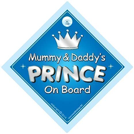 Car Sign Baby Car Sign Princess On Board Princess Car Sign Dad 724 Novelty Car Sign Baby On Board Sign,Baby on board Dads Princess On Board Car Sign Father