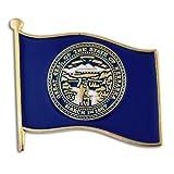 """PinMart's Nebraska US State Flag NE Enamel Lapel Pin 1"""""""