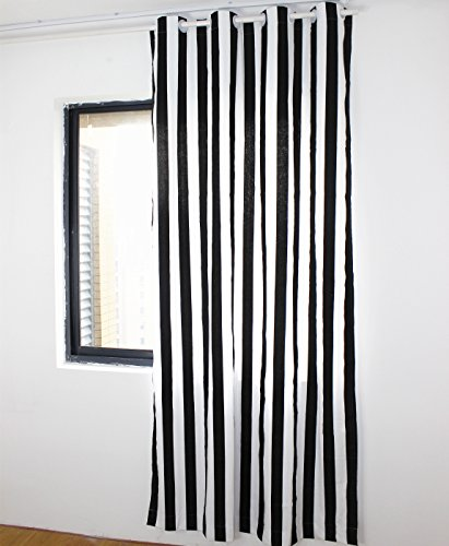 striped window curtains