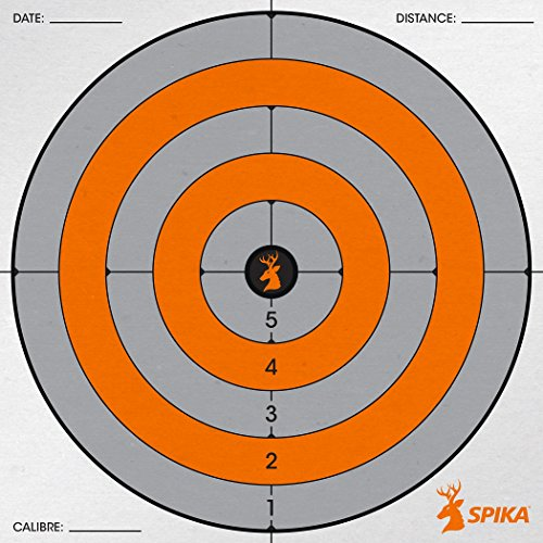 SPIKA Heavy-duty Paper Target Multi-purpose High-visibility Paper Targets for Shooting Practice 20Pack (8 inch Circle)