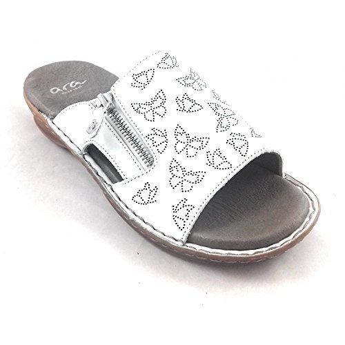 White Hawaii Leather Mule 27208 12 Sandal ara q17tE