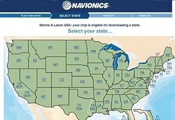 Amazoncom Navionics MSDDWLS Marine And Lake Map Chip Home - Usa lake map