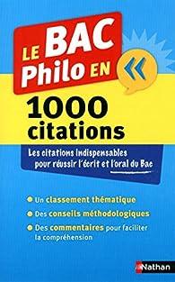 Le BAC Philo en 1000 citations par André Vergez