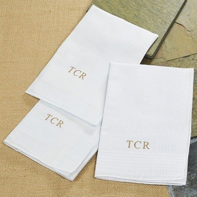 Personalized Men's Hankies w Free Personalization - Set of - Personalized Mens Handkerchiefs