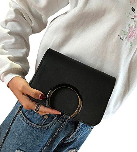 Tracolla Centimetri 19 Borsa Nero Abbigliamento A 5 Donna Coco Rosa 6 15 IHvgwqP4WP