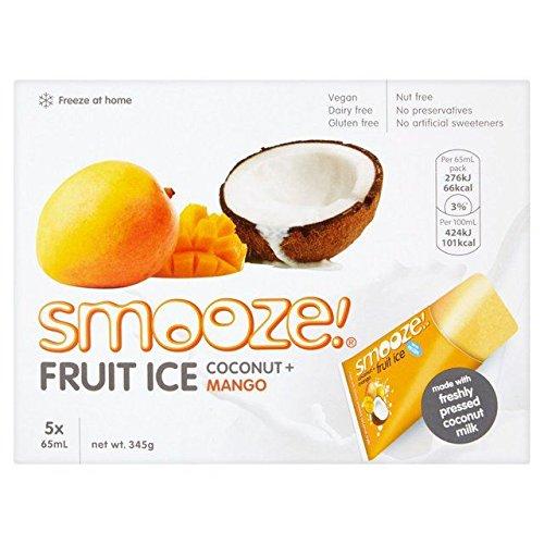 Smooze Coconut & Mango Fruit Ice Lollies - 5 x 65ml (10.99fl oz)