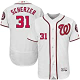 Majestic Athletic Men's Washington Nationals #31 Max Scherzer Home White Player Jersey