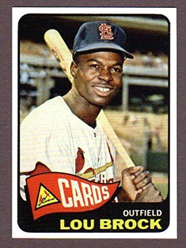 Brock Baseball Lou Card (Lou Brock 1965 Topps Baseball Reprint Card (St Louis Cardinals))