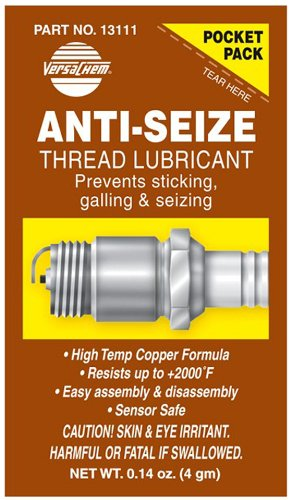 Versachem (13111-240PK) Anti-Seize Thread Lubricant - 4 Grams Pocket Pack, (Pack of 240) by Versachem