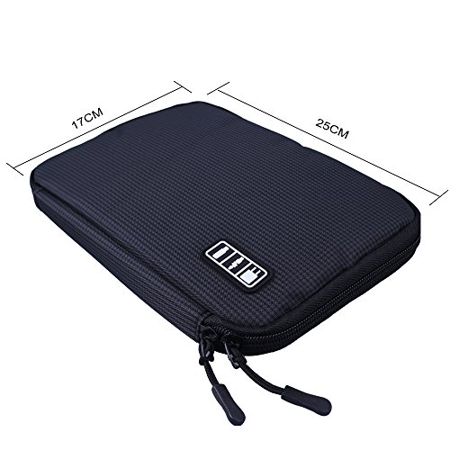 Shopper Joy Travel Electronics Cable Organizer Bag Case for Digital Accessories Devices Gadget Portable Storage Bag for Hard Drives Charger Various USB Adapter Power Bank - Black by Shopper Joy (Image #2)