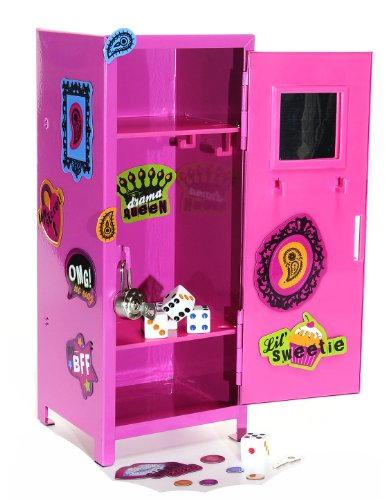 Girl Talk PINK Mini Locker with Magnets and 5 Bonus Dice - Kid Mini Locker