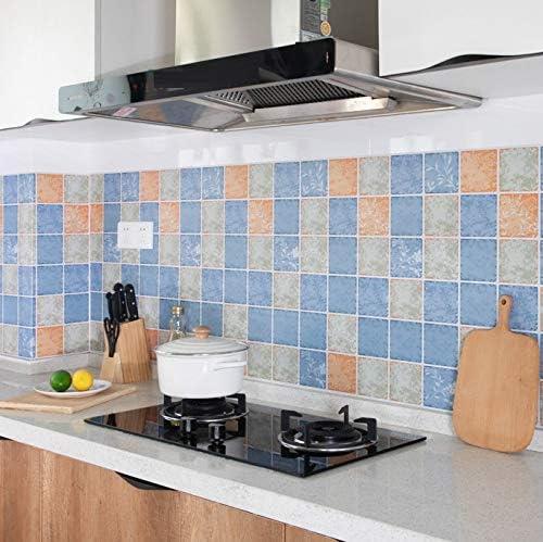 Azulejos Adhesivos Cocina 60X300Cm Pegatinas A Prueba Aceite Cocina Gabinete A Agua Y Resistente Al Aceite Con Campana Extractora Aceite Pared Cubierta Autoadhesiva Autoadhesivos Adhesivos Mostrador: Amazon.es: Hogar