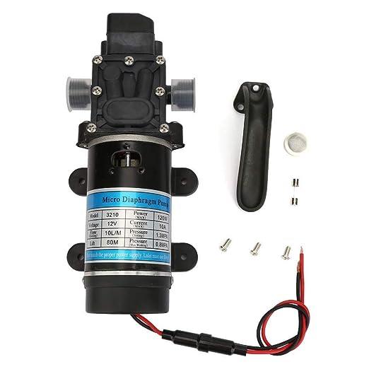 Suchinm Bomba de Agua de Alta presión, 12V/24V 120W Bomba de Agua ...