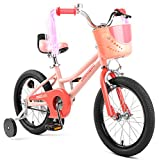 Retrospec Koda Kids Bike with Training Wheels, 16' 3-7yrs, Blush Pink