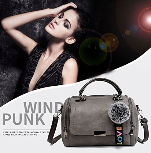 Bags Shoulder Women's Leather Bags Grey Cross Top Faux Body Bags Handbags Handle AWvHag