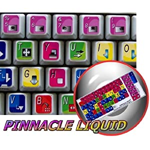 PINNACLE LIQUID EDITION KEYBOARD STICKER FOR DESKTOP, LAPTOP AND NOTEBOOK 4KEYBOARD