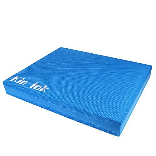 KIN LOK Balance Pad XL& Balance Board-Gym Exercise Mat & Foam Balance Trainer - Great for Strength Training,Yoga,Meditation Cushion, Physical Therapy Rehab, Anti-Fatigue.Dimension: 20 x 16 x 2.5 inch.