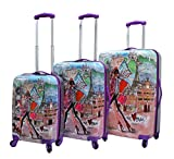 Mia Toro Izak-Paris Fashion Hard-side Spinner Luggage 3PC/Set with 10-Year Warranty--BEST GIFT for Christmas!!!!!