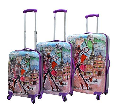 Mia Toro Izak-Paris Fashion Hard-side Spinner Luggage 3PC/Set with 10-Year Warranty--BEST GIFT for Christmas!!!!! by Mia Toro