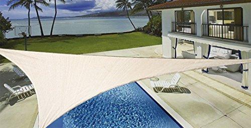 ProSource New Sand Color 16' Oversized Sun Shade Sail Shade canopy Sun Shelter