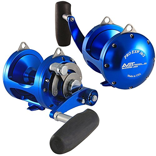 Avet 2 Speed Reel Blue Right