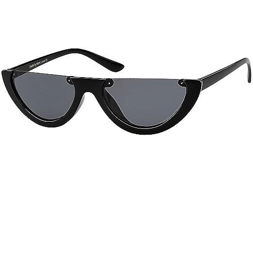 917a67b4f7 Buauty Women Half Frame Cateye Sunglasses Fashion Mod Style Brand Designer  Eyewear