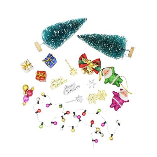 MagiDeal Escala 1/12 Árbol y Accesorio Decorativo de Navidad en Miniatura de Casa de Muñecas