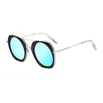 WYYY lunettes de soleil Mlle Classique Rétro Cadre Rond Lumière Polarisée Décoration Protection Contre Le Soleil Anti-UVA Protection UV 100% (Couleur : Noir) sbKOjo