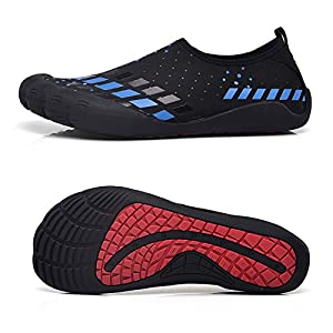 Water Shoes for Men Quick-Dry Aqua Sock Outdoor Athletic Sport Shoes for Kayaking,Boating,Hiking,Surfing,Walking (Size 8.5, Blue)